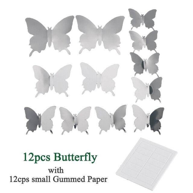3D Motýľ Dekorácia 12ks 4
