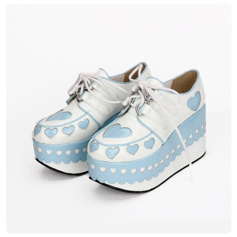Lovely Sweetheart Platform Heels Lolita Princess Gothic Cosplay Japanese Harajuku Style Girls Shoes  8892