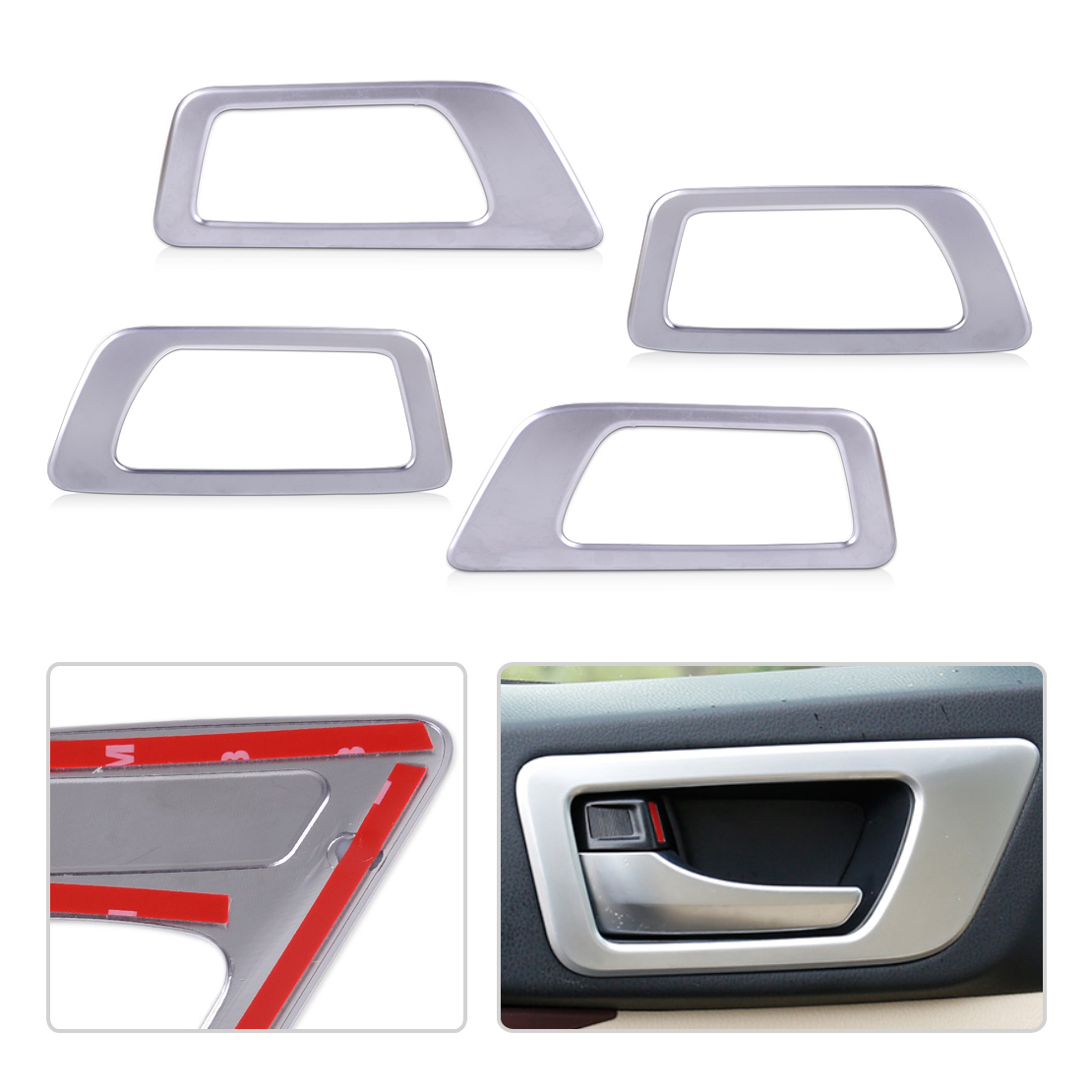CITALL Car-styling 4pcs Interior ABS Chrome Door Handle Bowl Trim fit for Toyota Highlander 2015 2016 2017