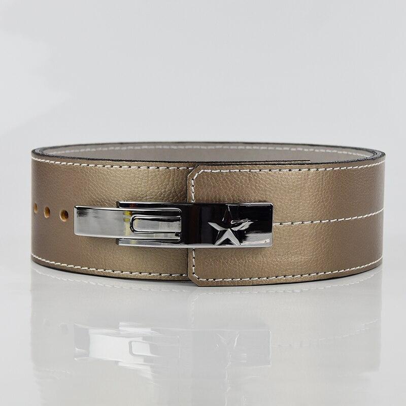 Livraison directe peau de vache haltérophilie ceinture musculation Fitness ceintures haltère puissance levage formation taille protecteur Gym ceinture