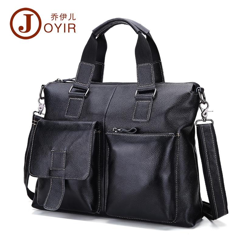 Causal Men's Briefcase Genuine leather Briefcases Male leather laptop bag for documents men executive briefcase men's handbag цена и фото