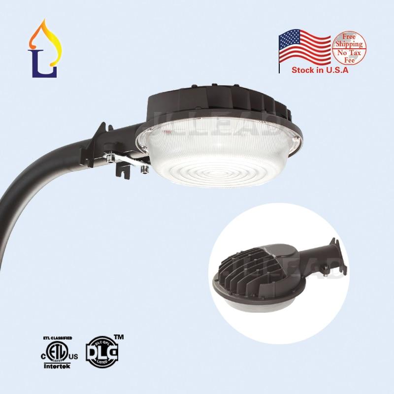 US stock ETL/DLC listed 50W IP65 led barn light AC100-277V photocell sensor led street light dusk-to-dawn LED area lighting quick install 75w warehouse pendant led lighting with dlc listed