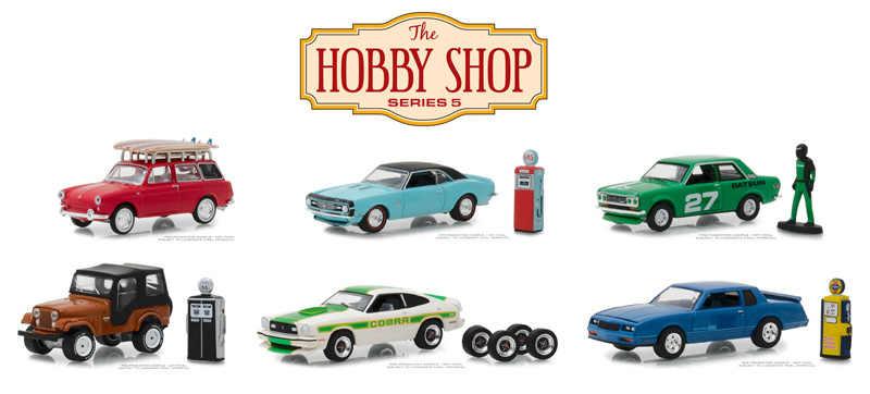 Groen Licht 1: 64 De Hobby-Winkel Serie 5-6 Stuk Set Legering Speelgoed Auto Speelgoed Voor Kinderen Diecast Model auto Verjaardagscadeau