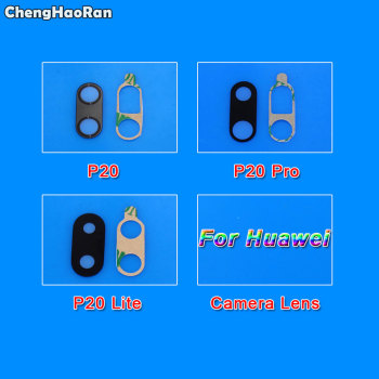 ChengHaoRan Rear Back Camera Glass Lens Replacement Part For Huawei Ascend P20 P20 Lite P20 Pro with Adhesive Sticker image