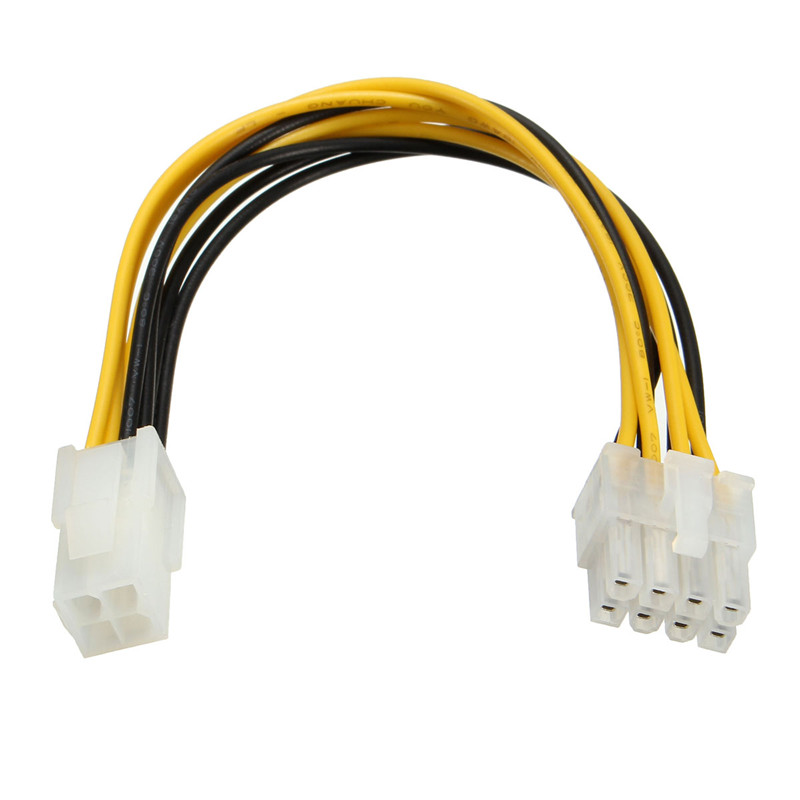 20cm CPU Power Cable Male 4 Pin P4 To Female 8 Pin ATX EPS PC HDD Power Convertor Adapter Cable Connectors Motherboard Connector