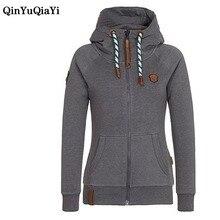 hot deal buy new autumn&winter women hoodies sweatshirts zipper long sleeve warm female hoodies sudaderas mujer