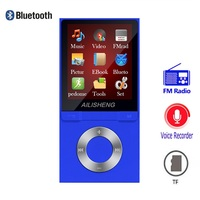 Bluetooth MP4 Player 8GB MP3 Pedometer 1.8 Inch Screen Play 50 hours with FM Radio E book Audio Video Player Portable Walkman