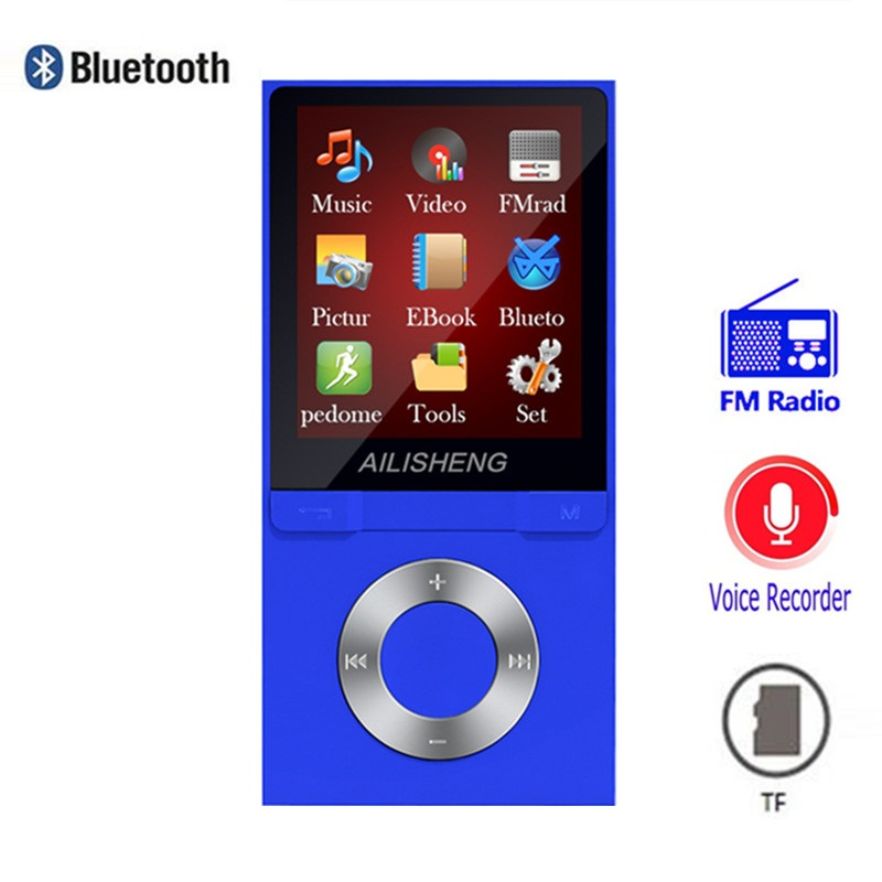 Tragbares Audio & Video Bluetooth Mp4 Player 8 Gb Mp3 Schrittzähler 1,8 Zoll Bildschirm Spielen 50 Stunden Mit Fm Radio E-book Audio Video Player Tragbare Walkman Waren Jeder Beschreibung Sind VerfüGbar Unterhaltungselektronik