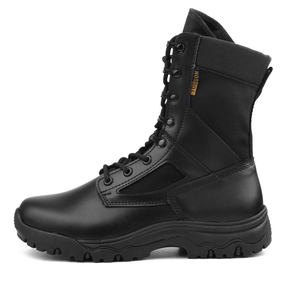 2a6ab318bb43a Outdoor Desert Military Tactical Boots Special Force Army Shoes For Men  Lace-up Antum/Spring Combat Ankle Boots Black Beige