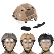 New Black Airsoft Tactical FAST Helmet with Protective Goggle ski helmet BHU2