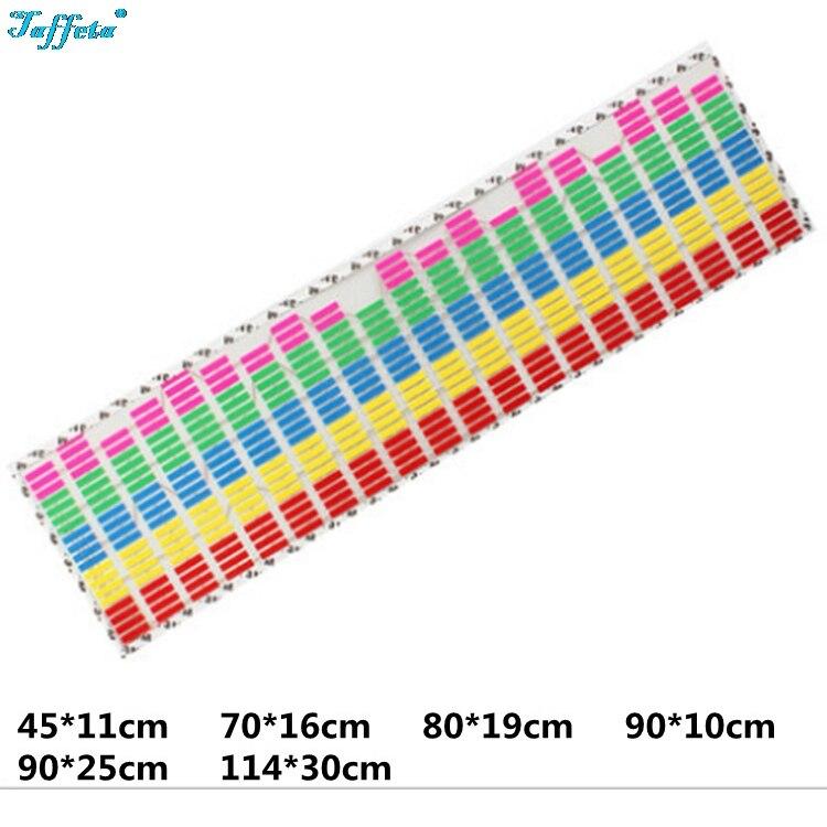 Multicolors Colors W45 W90 W70 W80 W90 W114 Flash Car Sticker Music Rhythm LED EL Sheet Light Sound Music Activated Equalizer