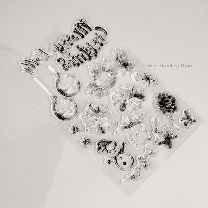 Árvore de natal decoraion carimbos ornamento de natal, anel sino cartão que faz carimbos bala jornal