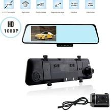 4.3″ Dual lens dvr mirror camera Full HD 1080P Car DVR Video Recording Blackbox Rear View Camera Rearview Mirror 140 degree Lens
