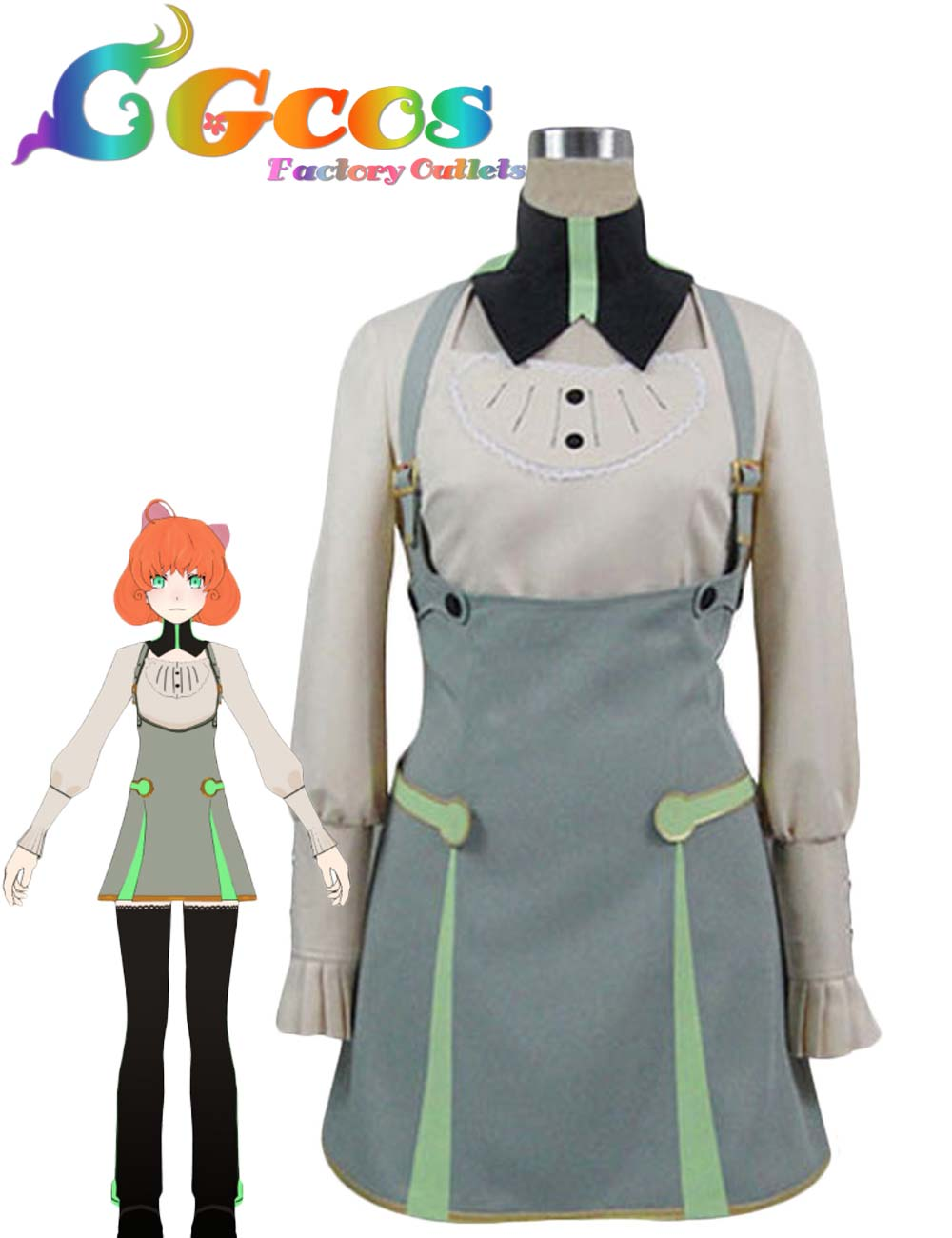 CGCOS Free Shipping Cosplay Costume RWBY Penny New in Stock Retail /Wholesale Halloween Christmas Uniform cgcos free shipping cosplay costume hetalia axis powers scotland uniform new in stock halloween christmas party
