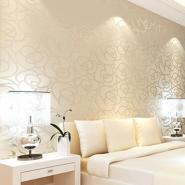 Aliexpress.com : Buy Classic Style Velvet Wallpaper Gold ...