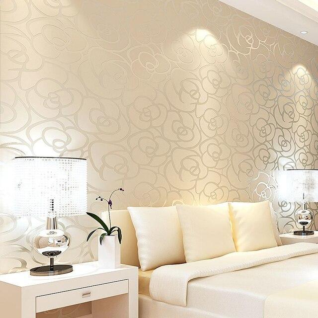 Aliexpress.com : Klassische Stil Samt Tapete Gold Rose Blume ...