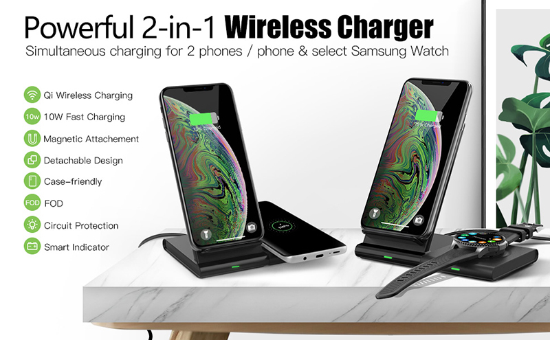 Image 3 - qi Magnetic Wireless charger desktop station for iPhone 8 XR 