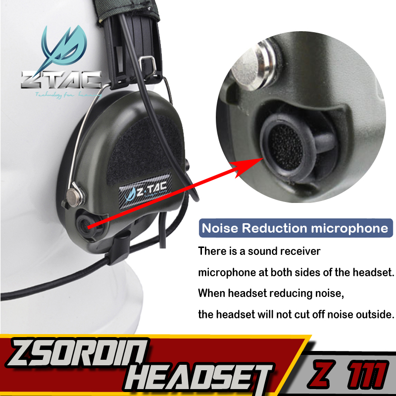Z 111 Z taktiskt headset (Officiell version) anti-noise headset - Jakt - Foto 4