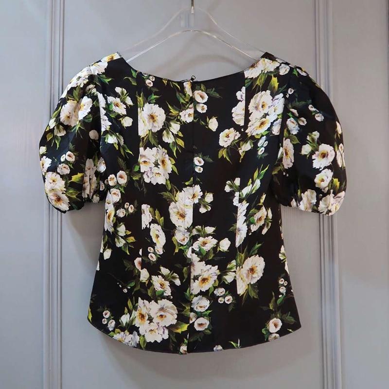 Longues Chemisiers Nouvelle Pour D'été À Chemises Manches Décontractées Femmes Fleur 2019 wOZ6q6fX