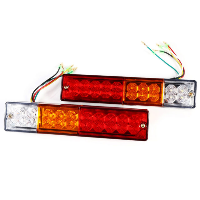 Online Shop 2pcs 12V/24V Trailer Lights LED Stop Rear Tail Brake ...