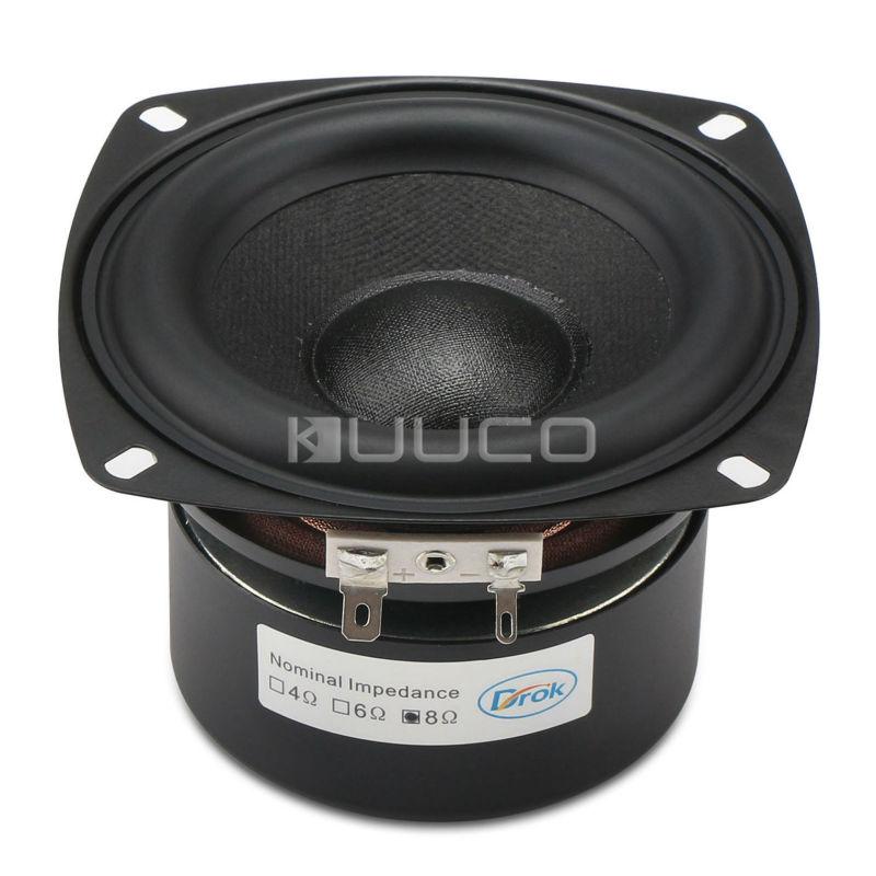 Stereo Loudspeaker 40W Woofer Audio Speaker 4-inch 8 ohms Subwoofer Bass Speaker Antimagnetic for Multimedia/PC/Home etc 1pcs denmark vifa 3 5 inch woofer speaker weave pots speaker magnet