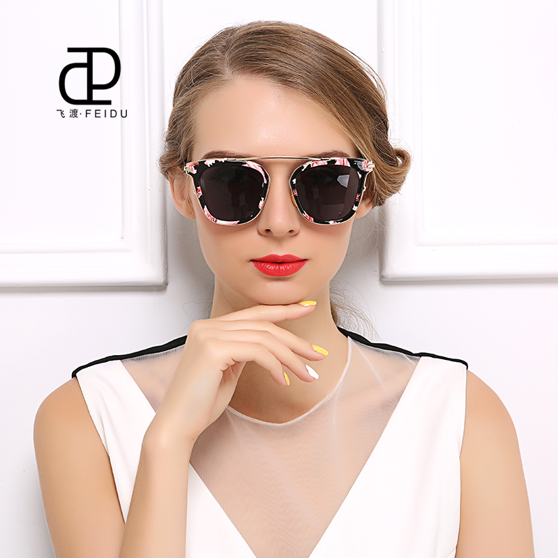 FEIDU Cat eye Sun Glasses Women Summer Vintage Style Sunglasses High Quality Celebrity Same Paragraph Oculos De Sol With Box