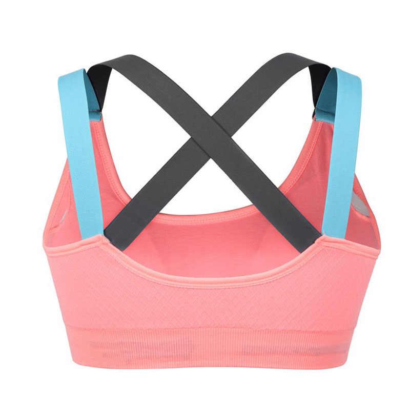 f73b232cbe957 VEQKING Sport Shirt Women Running Sport Bra Stitching Color Quick Dry  Fitness T-shirt Gym Shirt Yoga Sports Bra Top for Women
