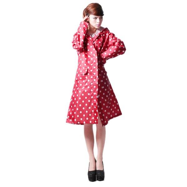 Hot Sale Dot Cute Womens Raincoats Outdoor Travel Waterproof Tour Rainwear Female Sport Suit Rain Jacket