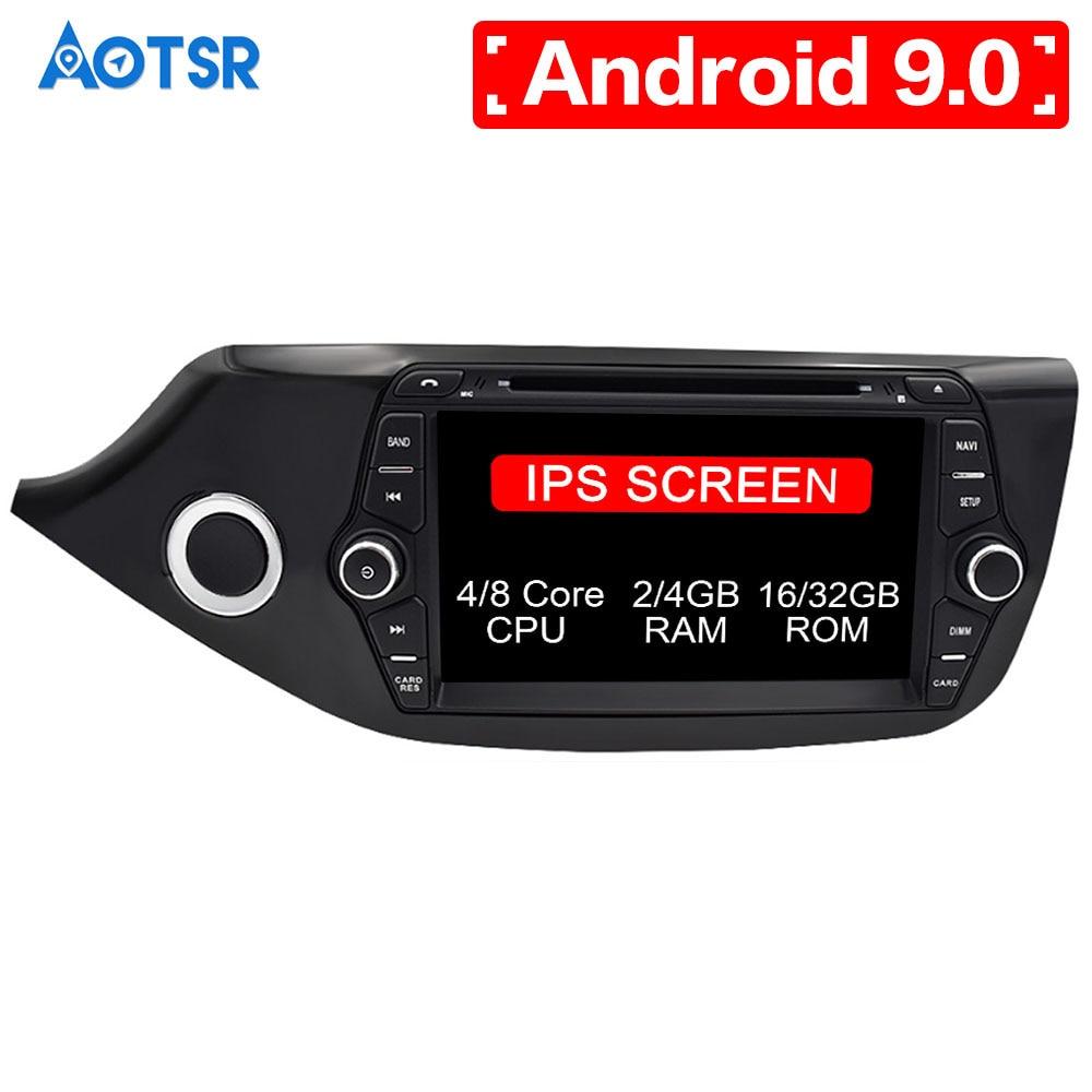 Android 9,0 8 ядерный автомобильный DVD CD плеер gps навигация для KIA CEED 2013 2016 мультимедийная система 2 din радио авто радио стерео ips