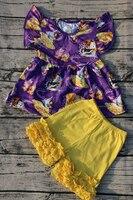 赤ちゃんの女の子ブティック服プリンセスデザインパール衣装卸売赤ちゃんフラッターdress服セット
