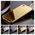 Роскошь Розовое Золото Зеркало Case Для Huawei Y6 2 Y6II Case крышка Для Huawei Y6 II Задняя Крышка Для Huawei Y6ii Телефон case
