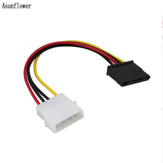 5PCS/lot Dual 4 Pin Male Molex IDE TO 6 Pin Female Molex PCI-E Cards Graphic External Supply Line Adapter Power Cable