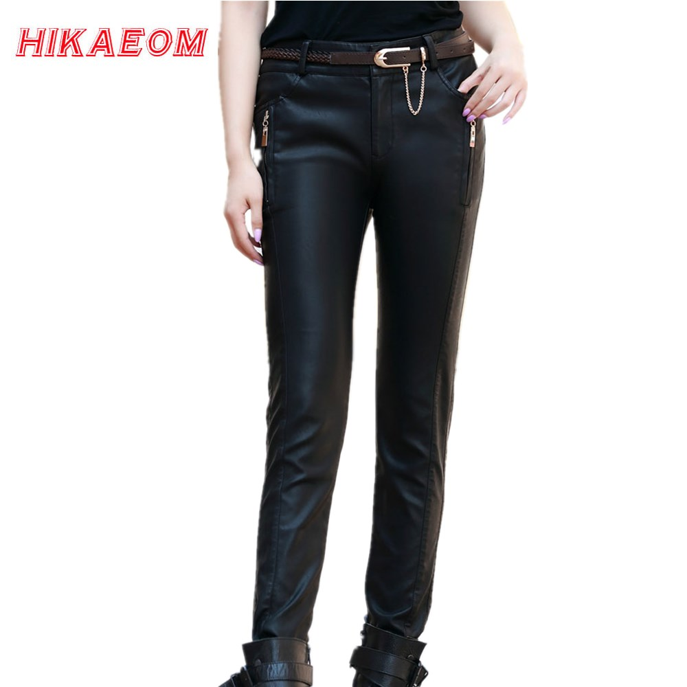 Aliexpress.com : Buy EW Pu Leather Pants Womens Winter ...