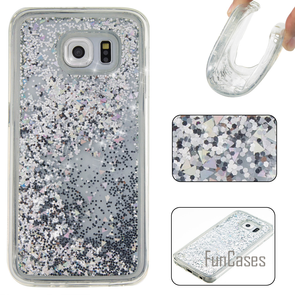 Glitter Liquid Quicksand Case for fundas Samsung S6 Case 5.1 inch for coque Samsung Galaxy S6 Case Quicksand Case