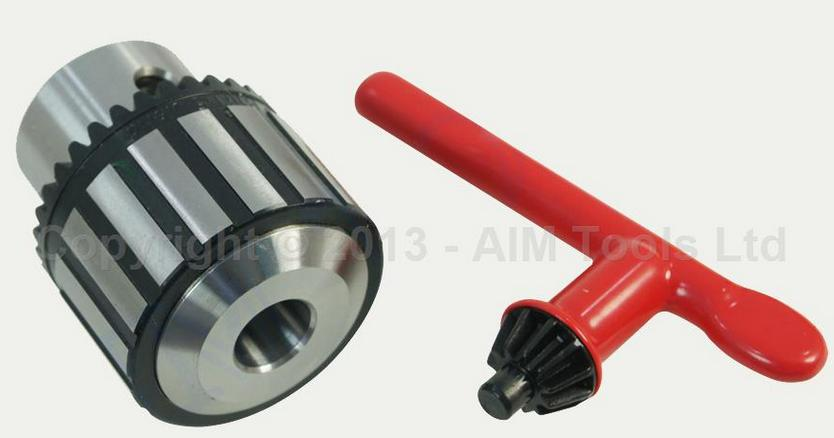 Heavy Duty Press Drill Chuck 3MM - 16MM B16 With Wrench 16 metal drill press quill feed return coil spring assembly 70mm