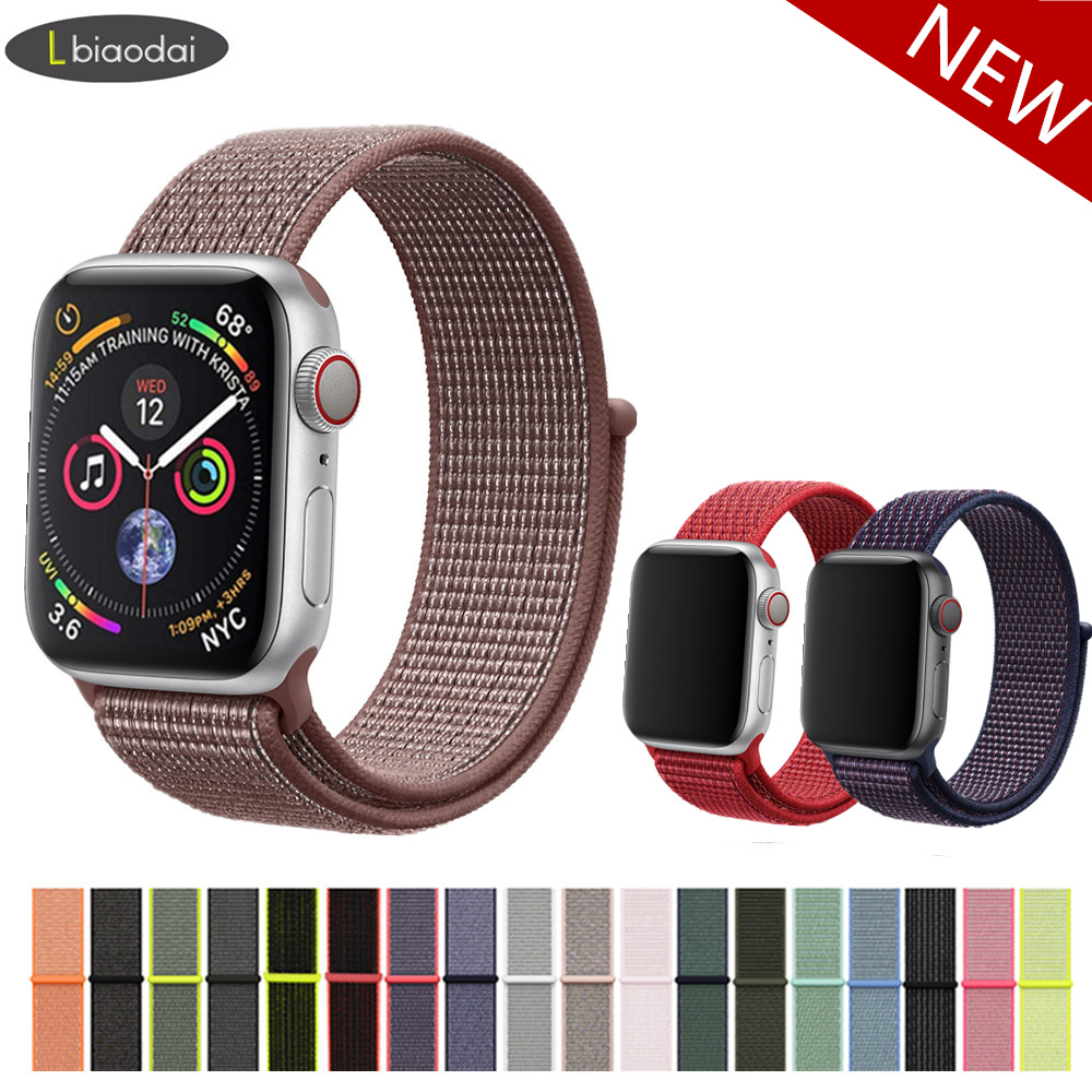 c5fe17db937 Nylon Strap for Apple watch Sport loop Band Apple watch 4 3 42mm 44mm  38mm 40mm bracelet Watchband for iwatch 4 3 2 1 Series -in Watchbands from  Watches on ...
