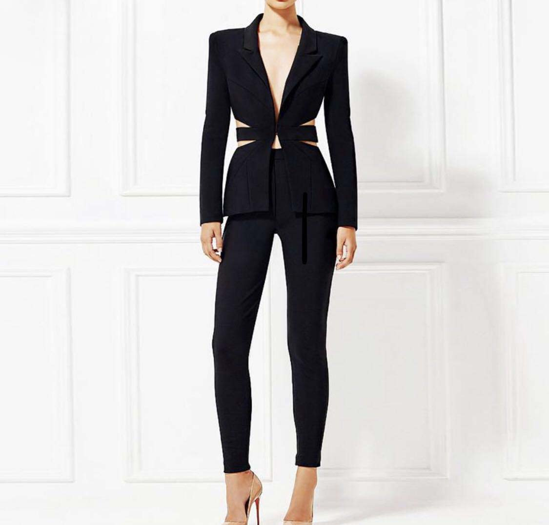 2019 New Office Work Blazer Suits Of High Quality OL Women Pants Suit Blazers Jackets With Trouser Two Pieces Set Custom Made