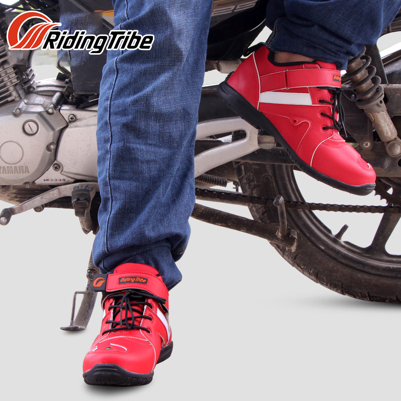 Reiten Tribe Wasserdichte Motorrad Stiefel Biker Nicht-slip Moto Racing Motocross Leder Schuhe Offroad Reiten Dirt Bike Botas Männer