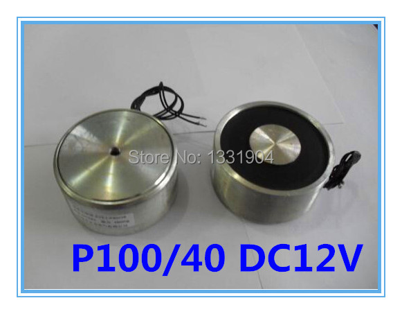 P100/40 Round Electro Holding Magnet DC12V, DC solenoid electromagnetic, Mini round electro holding magnet