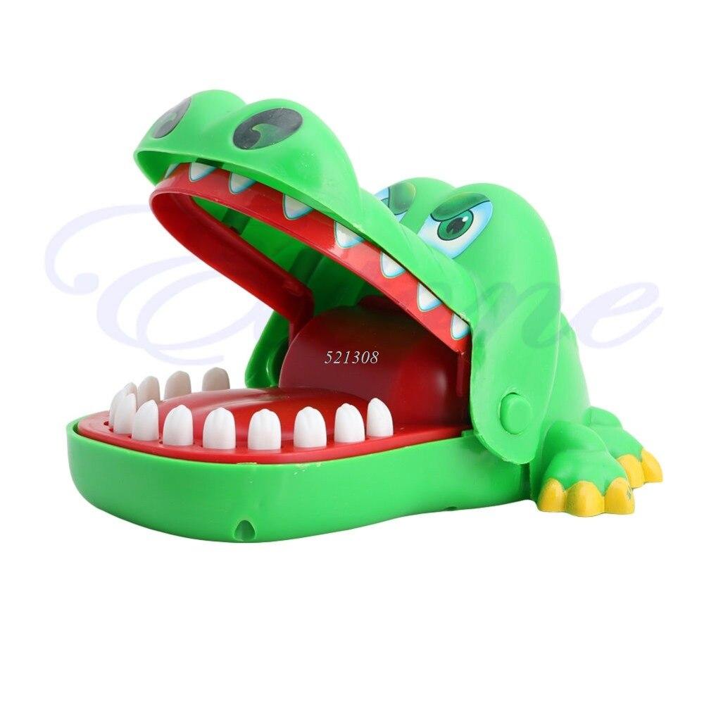 pop creativo grande la boca del cocodrilo mordedura finger juego juego para regalo de los cabritos