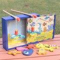 Brinquedos do bebê Boikido de madeira brinquedo de pesca magnética Set brinquedo de pesca peixe jogo educativo criança aniversário / presente de natal