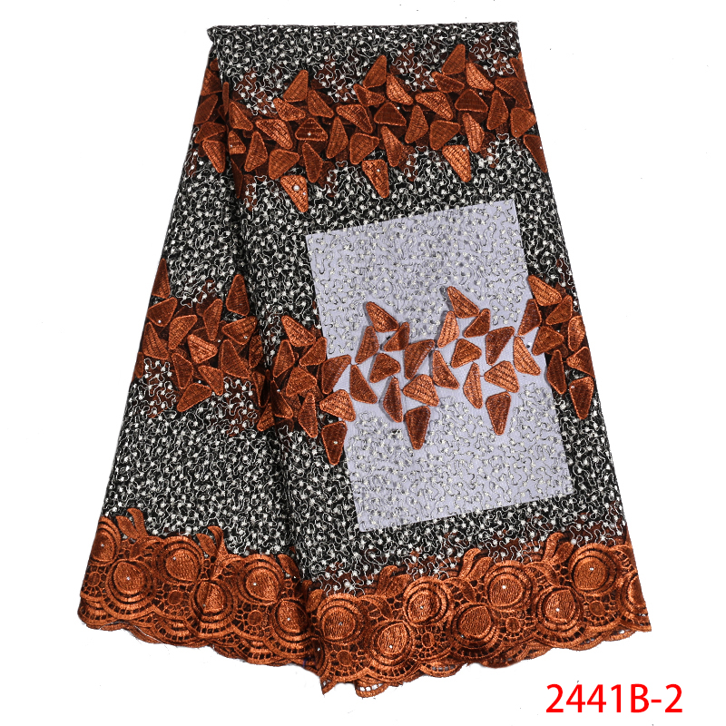 Latest High Quality African Tulle Lace Fabric with Stone Net Fabrics Lace French Mesh Lace Fabric for Nigerian Dress APW2441B-1