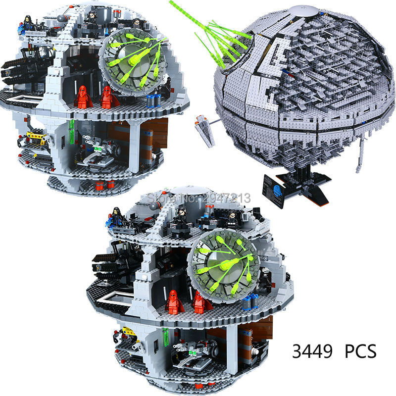 hot compatible LegoINGlys Star Wars series Building Blocks Death Star II ucs second generation model brick toys for Children lepin 05035 star wars death star limited edition model building kit millenniums blocks puzzle compatible legoed 75159