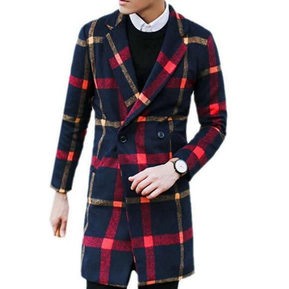 Online Get Cheap Plaid Trench Coat Men -Aliexpress.com | Alibaba Group