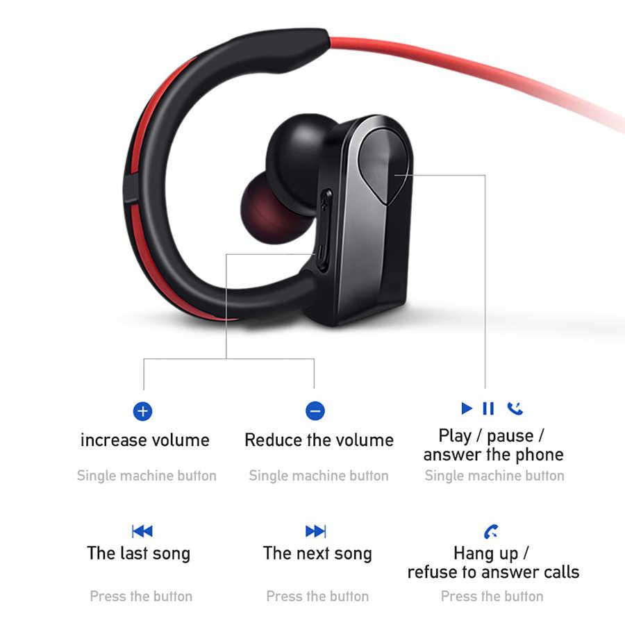 Sportowe słuchawki Bluetooth bezprzewodowe słuchawki zestaw słuchawkowy Bluetooth wodoodporna redukcja szumów z mikrofonem dla telefonów z systemem android ios