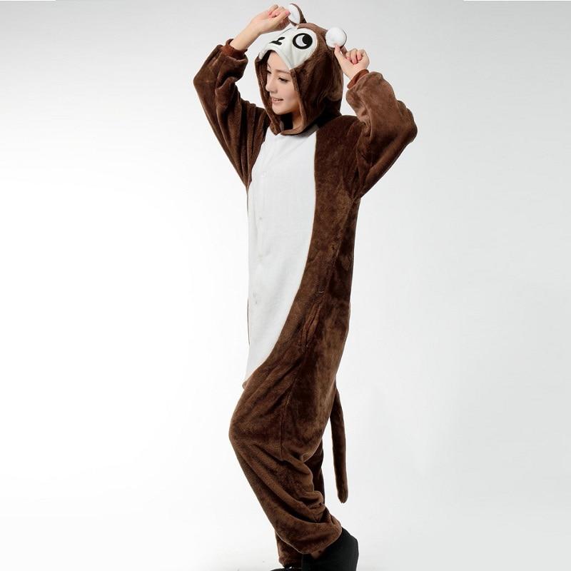 d44e6487af Winter Women Onesie Animal Pajama Brown Monkey Pajamas Party Jumpsuit Men  Adult Cartoon Kigurumi Costume Sleepwear Outfit on Aliexpress.com