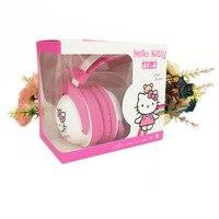 Retail Box Kitty Cartoon Earphone Headband Headphone For Iphone Samsung Students Child Kids Mobile Earphones Cumputer