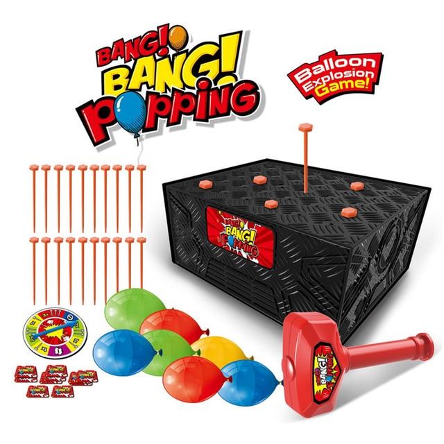 Explosão Caixa de Jogo de Ação Balão Explodir a Família Party Exquisite Fun Toy Kids Crianças Brinquedos infantis Presentes de Aniversário Engraçados Gadgets