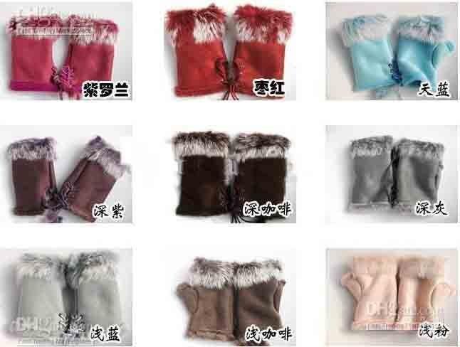 2013 HOTTEST SALE  200/pcs Rabbit Fur Gloves Rabbit Hair FINGERLESS GLOVE Gloves Xmas Rabbit Fur HAND