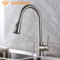 2017 New Arrival Mixer Faucet For Kitchen Chrome Finish Deck Mounted With Pull Out Sprayer